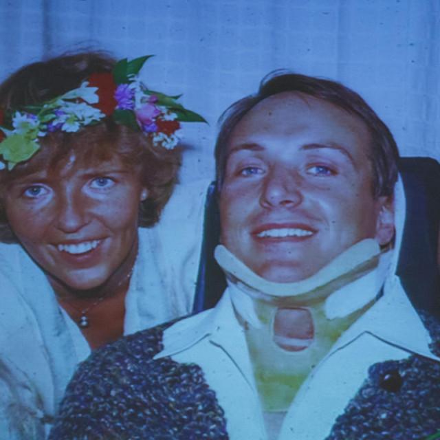 Dr. Hultling sa svojom ženomBarbrom Fogström