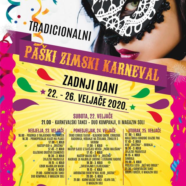 Zanimljiv i zabavan program tradicionalnog Paškog karnevala!