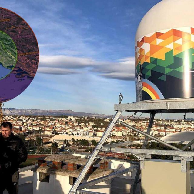 Prvi radar u Dalmaciji niknuo je na krovu jedne od zgrada na Pet nebodera i dohvaća područje južnije od Splita, što znači da je nepokriven ostao samo jug Dalmacije