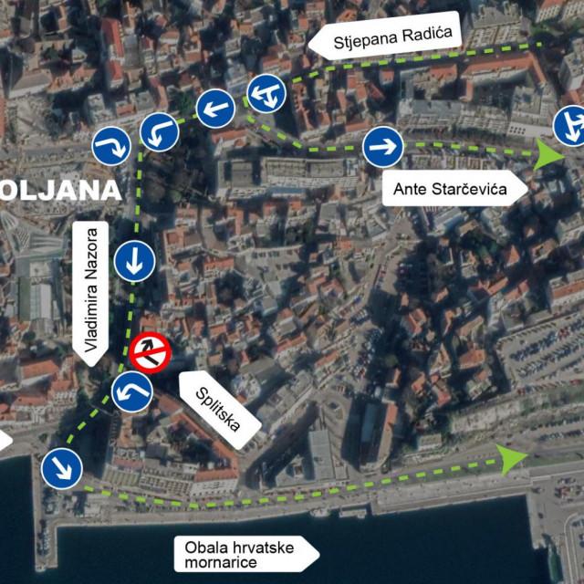 Od ponedjeljka nova regulacija prometa u centru Šibenika