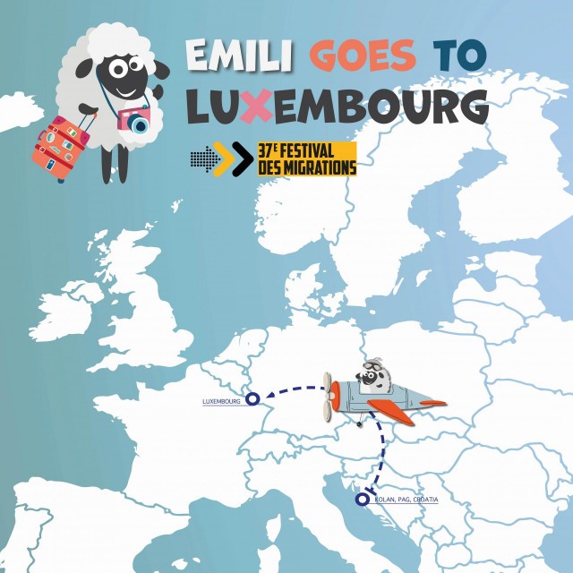 Predstavljanje otoka Paga u Luksemburgu -ovčica Emili prvi put putuje izvan granica!