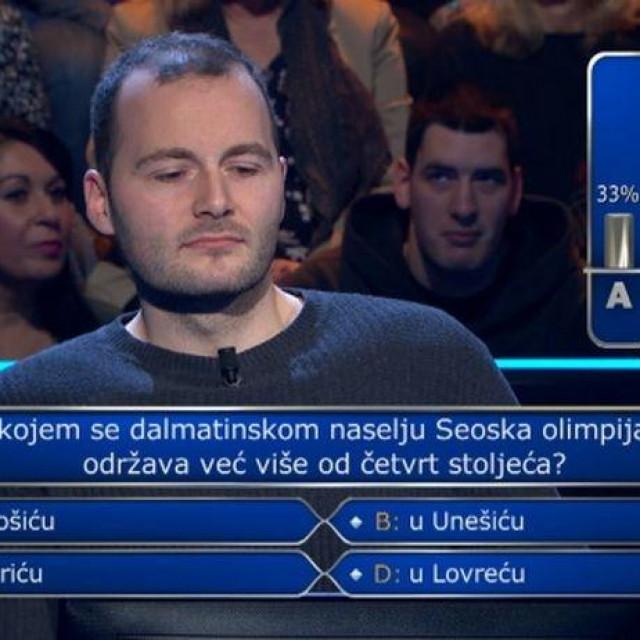 Božidar Novak u kvizu Tko želi biti milijunaš
