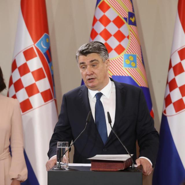 Zoran Milanović prilikom preuzimanja funkcije na Pantovčaku