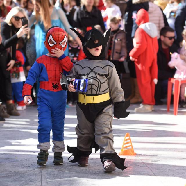 Zadar, 220220.<br /> Pretposljednji dan Zadarskog karnevala obiljezen je programom za djecu na Narodnom trgu.<br />