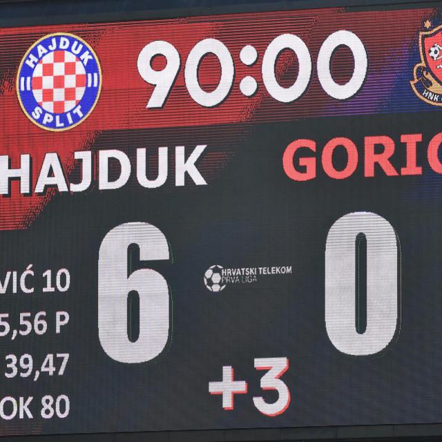Hajduk je svladao Goricu u sklopu 23. kola HT Prve HNL sa 6:0