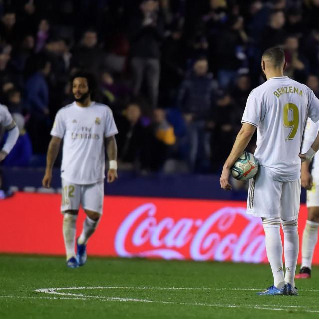 Reakcija igrača Reala nakon primljenog gola