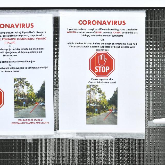 Zagreb, 250220.<br /> Klinika za infektivne bolesti Dr. Fran Mihaljevic u kojoj se nalazi pacijent zarazen koronavirusom.<br />