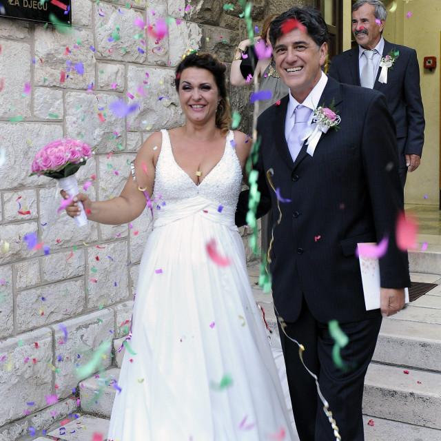 Ivo Amulić i Sandra Kekez vjenčali su se u splitskom matičnom uredu prije sedam godina