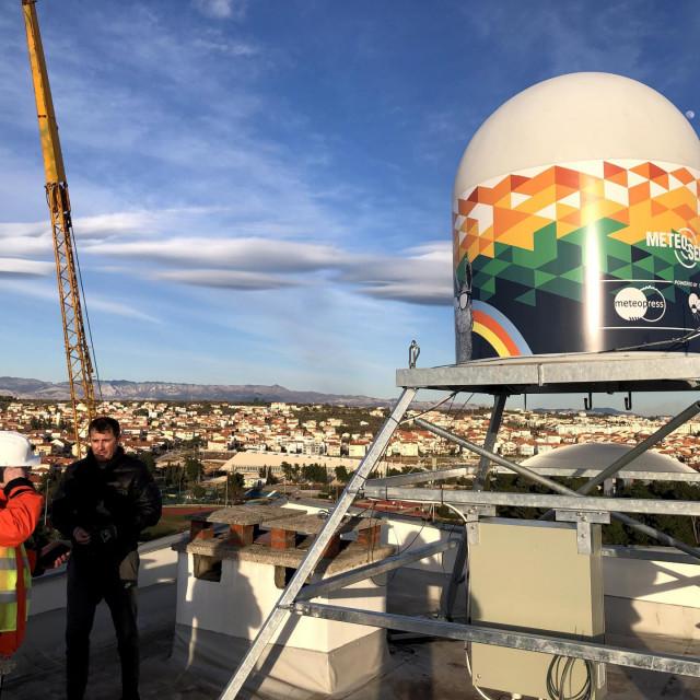 Postavljanje prvog meteoradara u Dalmaciji na neboderu u Zadru