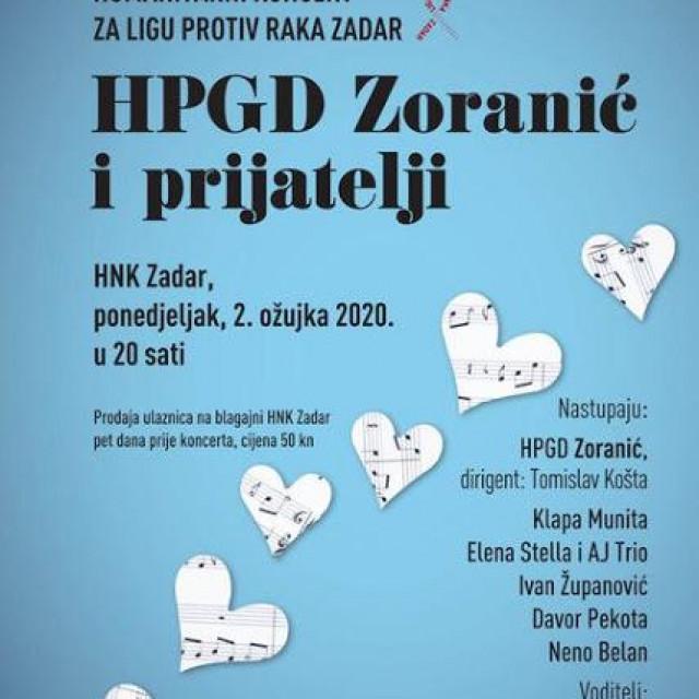 Zoranic organizira humanitarni koncert.