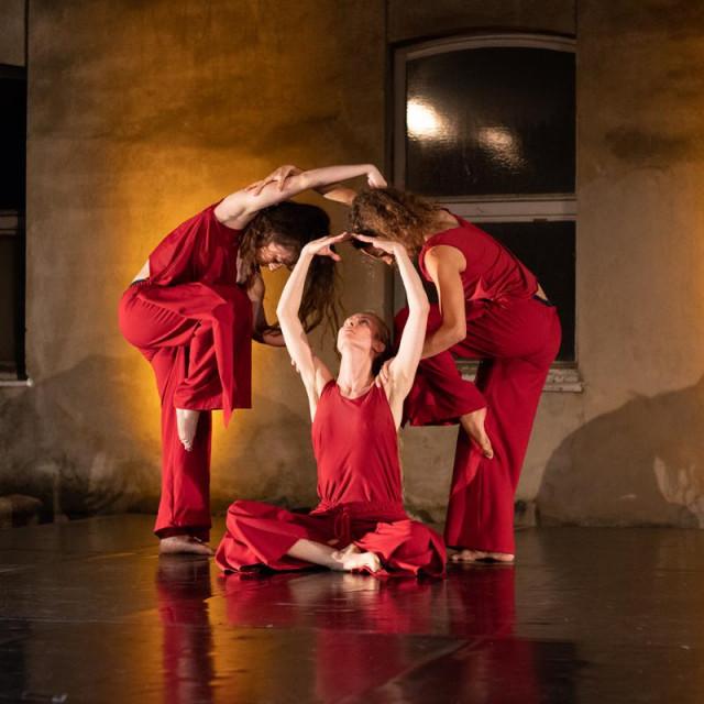 Pjesmom protiv žena je medijski hibrid suvremenog plesa i performansa koji spaja aktualnost teme s kulturnom baštinom šireg zadarskog područja