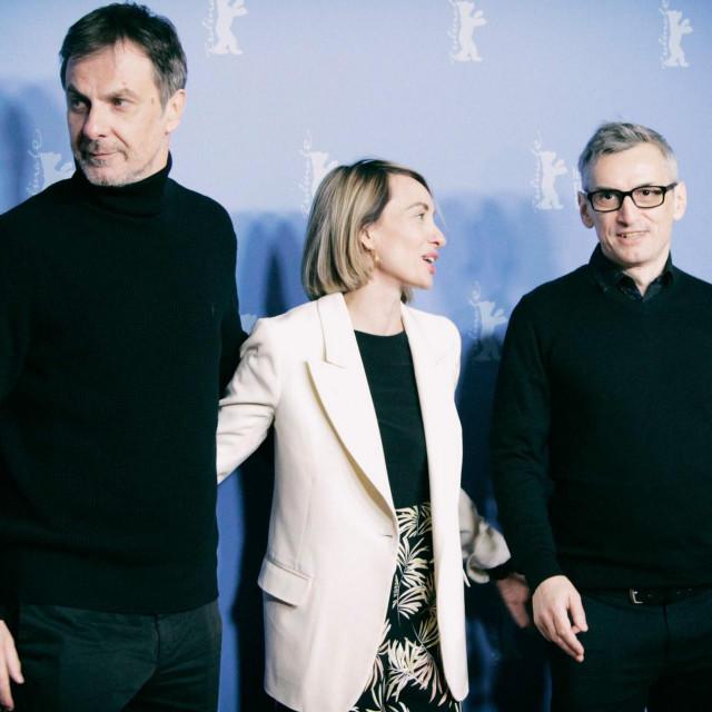 Producenti Boris i Lana Matić te koscenarist Ognjen Sviličić na Berlinaleu