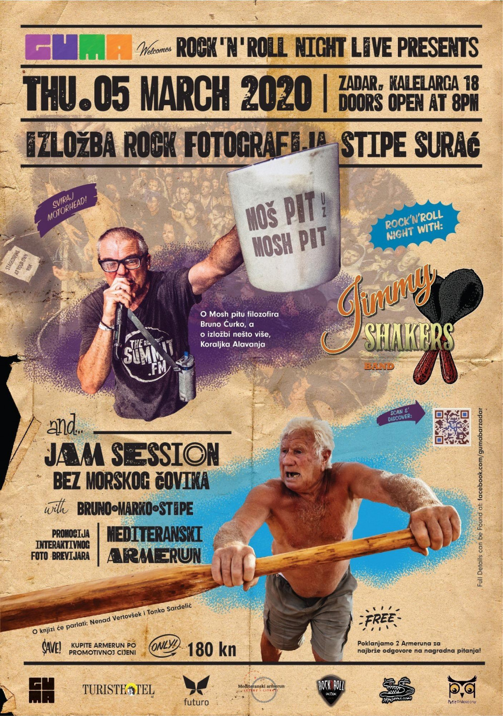Plakat izložbe rock fotografija Stipe Suraća