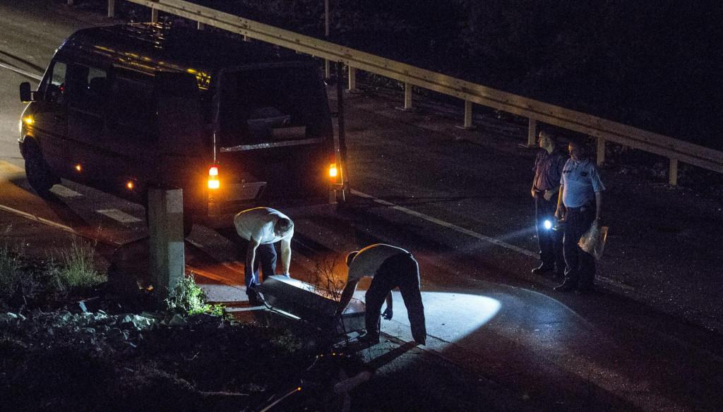 Očevid nakon teške prometne nesreće na Solinskoj cesti na predjelu Dujmovače u kojoj je prošlog ljeta smrtno stradao vozač prilikom izlijetanja sa ceste