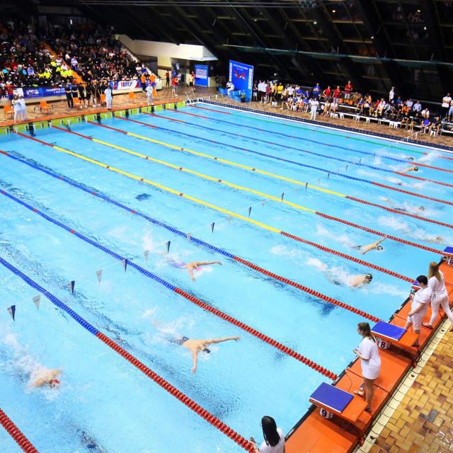 Plivačko natjecanje u 25 metarskom bazenu na Poljudu foto: Duje Klarić / CROPIX