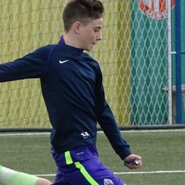 Mladi nogometaš Sven Opačić