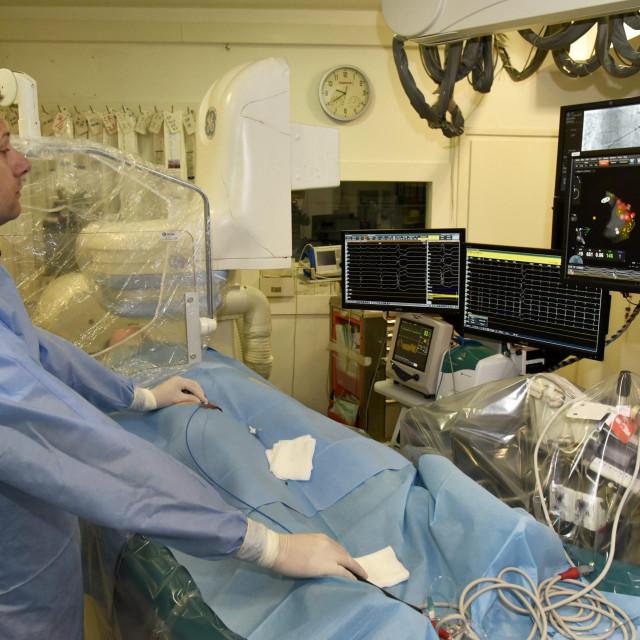 Operativni zahvat ablacije u angiodvoranI Splitskog KBC-a