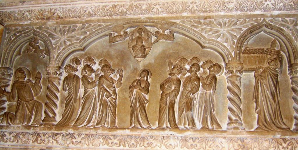 Klaustar Male braće Dubrovnik, sarkofag Marina Gučetića