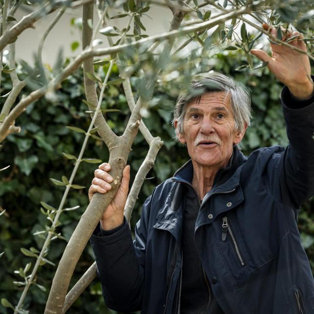Sibenik, 290220.<br /> Znanstvenik biolog Drago Margus u vrtu svoje kuce na Jadriji<br />