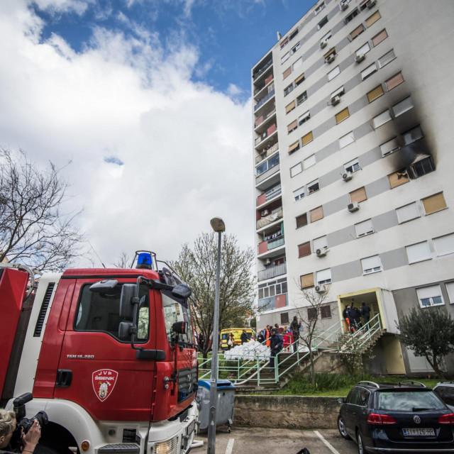 U Šibeniku je izgorio stan obitelji Čondić