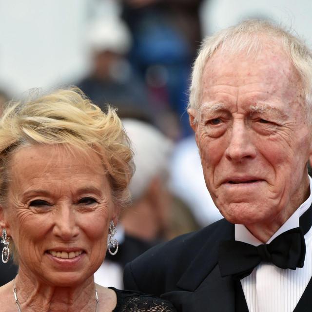 Max von Sydow sa suprugom, producenticom Catherine Brelet