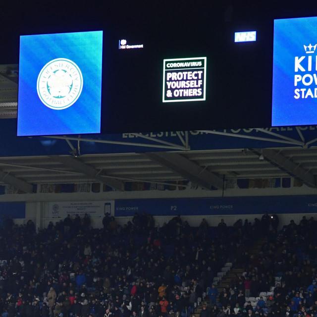 Upozorenje o koronavirusu na stadionu Leicestera