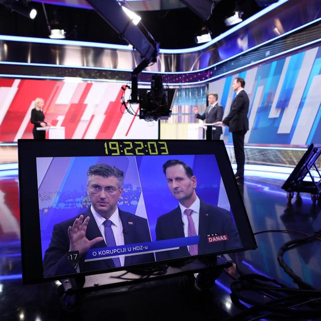 Sučeljavanje Andreja Plenkovića i Mira Kovača uoći izbora za predsjednika HDZ-a u studiju RTL televizije.<br />