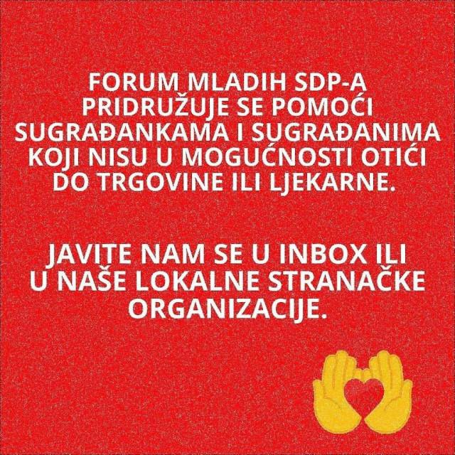 Apel Foruma mladih SDP-a