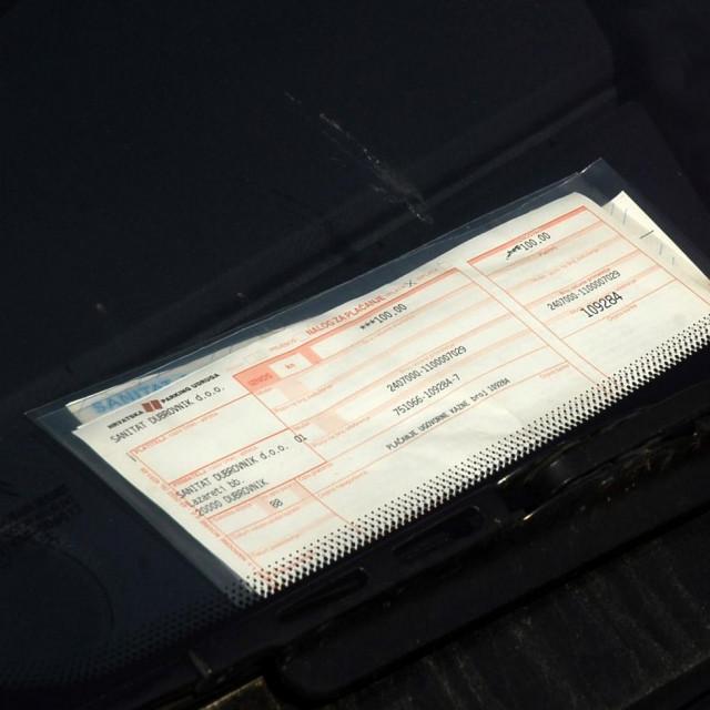 Dubrovnik, 31.01.2013.<br /> Kazna za parkiranje<br />