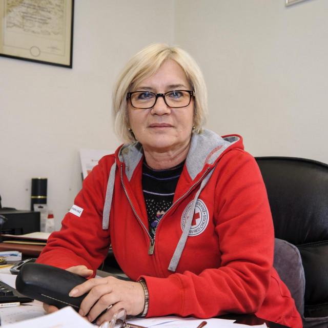 Tonka Mikulandra, ravnateljica Gradskog društva Crvenog križa Šibenik<br />
