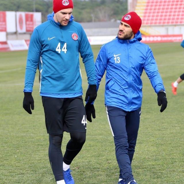 Tomislav Glumac, nogometaš Umraniyespora na treningu