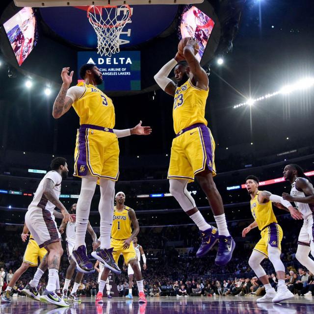 Detalj s utakmice Netsa i Lakersa