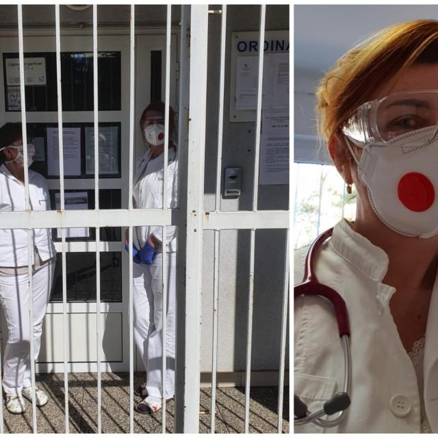 Dr. Anamarija Bekavac i sestra Ana ispred svoje splitske ordinacije