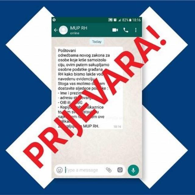 Policija upozorava sve građane na oprez: ne nasjedajte na SMS i WEB- prijevare, nikako ne davajte osobne podatke preko mobilnih aplikacija