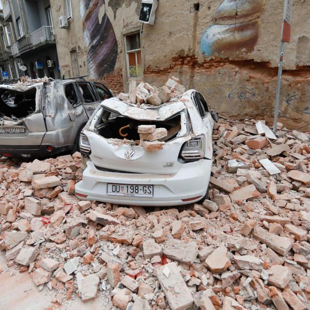 Zagreb, 220320.<br /> Potres u Zagrebu.<br />