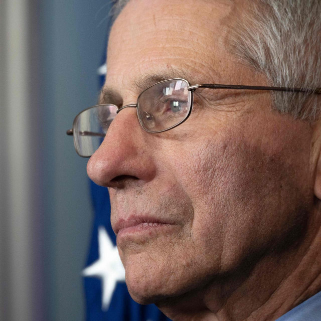 Director of the National Institute of Allergy and Infectious Diseases Dr. Anthony Fauci speaks during a press briefing at the White House in Washington, DC, on March 15, 2020. (Photo by JIM WATSON/AFP)