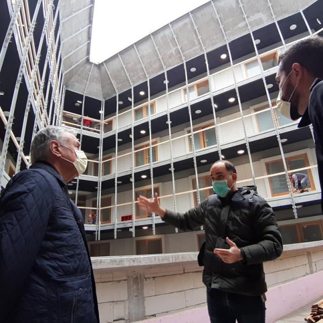 obilazak radova Studentski dom Dubrovnik za potrebe OB Dubrovnik