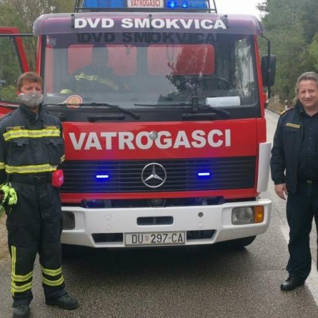 Županijski vatrogasni zapovjednik Stjepan Simović u posjeti DVD - u Smokvica