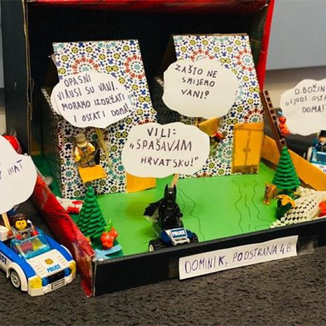 Dominik iz Podstrane je Lego kockicama bi prikazao rad Stožera civilne zaštite Republike Hrvatske