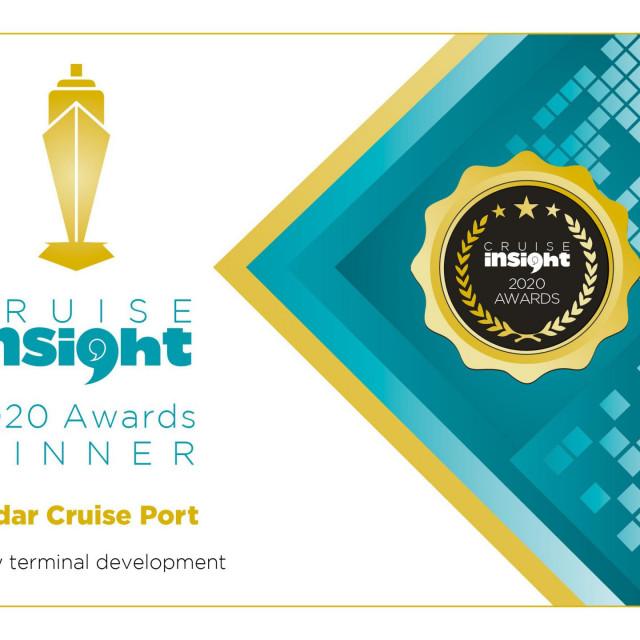 Zadar Cruise Port osvojila je prestižnu nagradu britanskog magazina Cruise Insight 2020 Awards