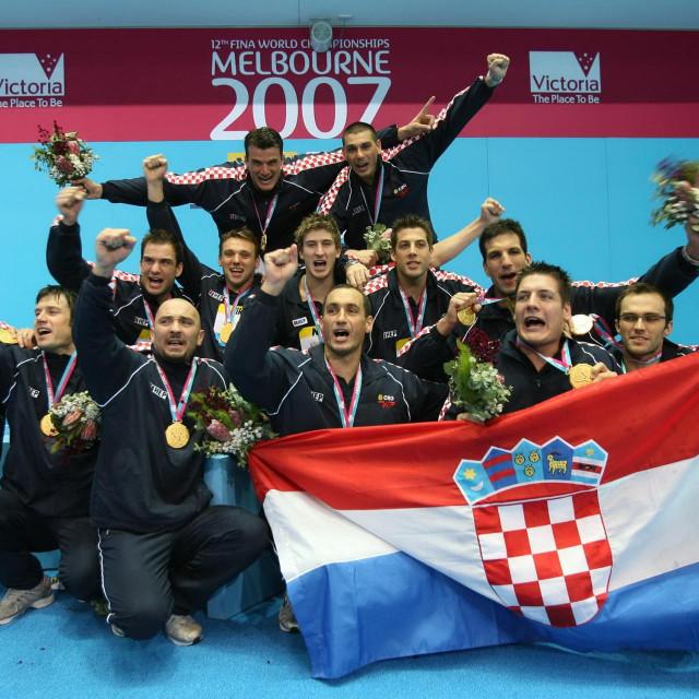 Hrvatska je u Melbourneu 2007. po prvi put postala svjetski prvak foto: Vladimir Dugandžić