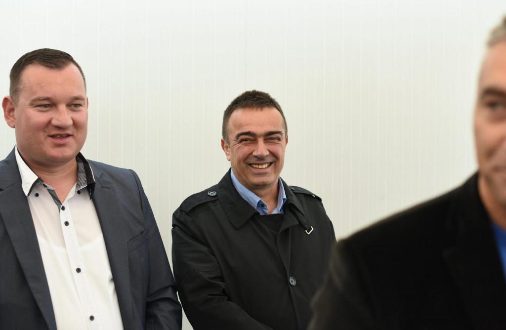 Šime Vicković, zamjenik župana i Ivan Knez, gradonačelnik Biograda