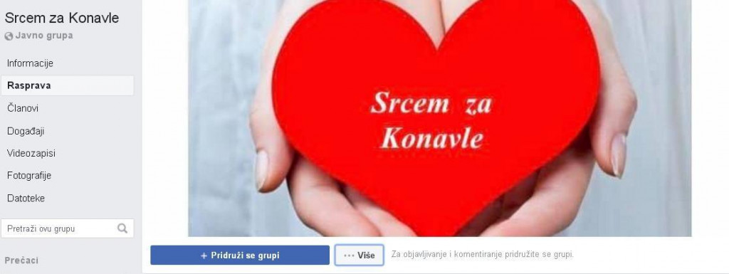 "Facebook grupa ""Srcem za Konavle"""
