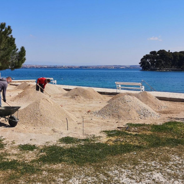 Uređenje plaže Jaz u Preku