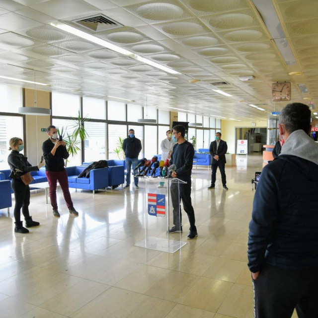 Županijski krizni stožer na dan 5. travnja u Općoj bolnici Dubrovnik