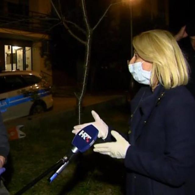 Policajac 'upao' novinarki i ekipi HTV-a usred javljanja uživo