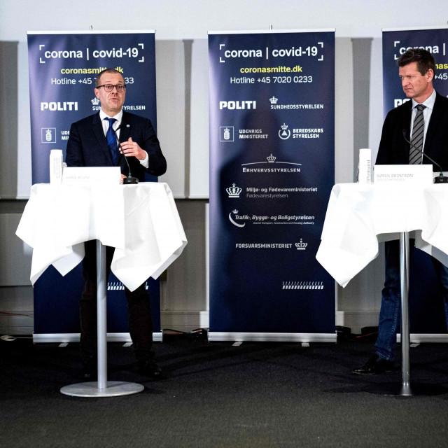 Prvi čovjek danskoga zdravstva Soeren Brostroem i direktor Svjetske zdravstvene organizacije za Europu Hans Kluge