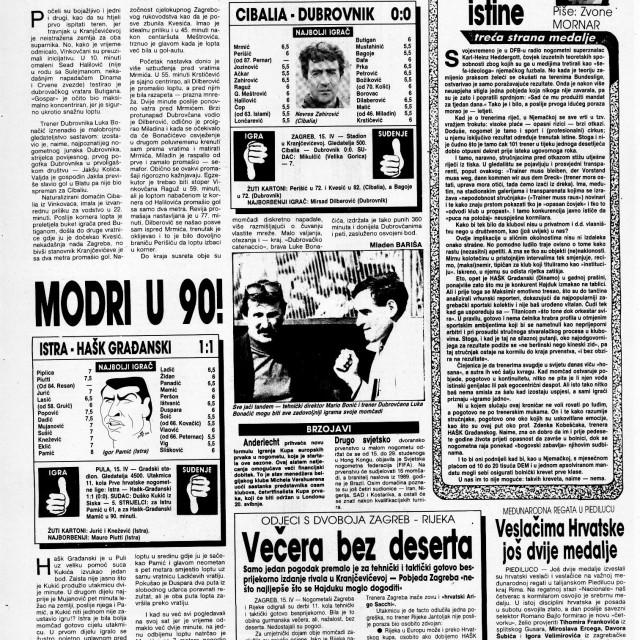 Slobodna Dalmacija: Dubrovnik je u travnju 1992. bio bez poraza, nanizao je pet utakmica bez poraza...