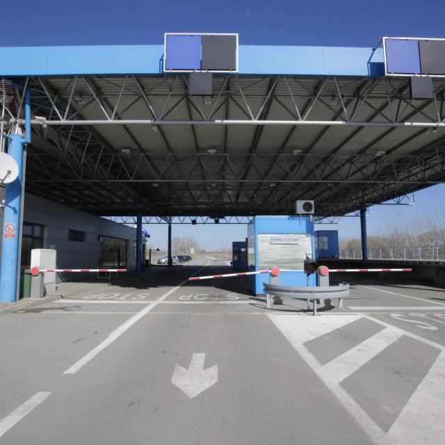 Batina, 120320<br /> Zbog koronavirrusa zatvoren je granicni prijelaz izmedju Srbije i Hrvatske u Batini.<br /> Na fotografiji: granicni prijelaz Batina.<br />