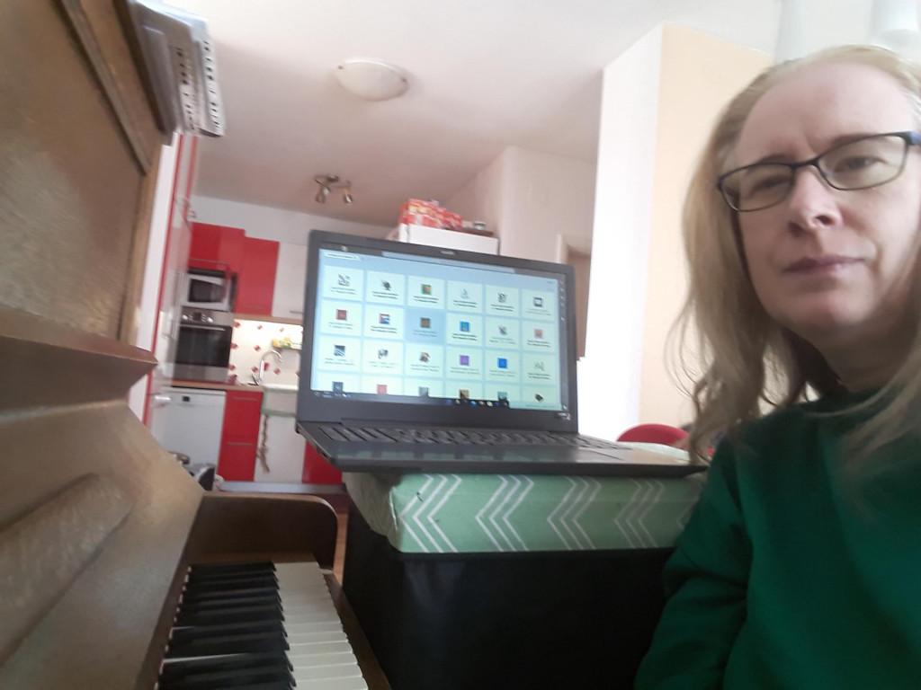 Mira Grujić, jedna od profesorica koja sudjeluje u online nastava u šibenskoj glazbenoj školi
